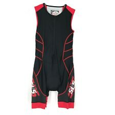 SLS3 Triathlon Race Suit Mens Large Black Tri Speedsuit Skinsuit Swim Bike Run