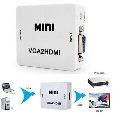 1080P HD Video MINI Audio VGA To HDMI HD HDTV  Box VGA2HDMI Converter Adapter