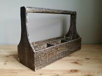 Vintage Primitive style Carpenter's Wooden Tool Box 1950's