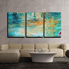 "Wall26 - Abstract Oil Paint Texture - Canvas Art Wall Decor - 16""x24""x3 Panels"