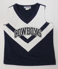 DALLAS COWBOYS CHEERLEADER TOP YOUTH GIRLS CUTE NFL FOOTBALL STITCH NAVY WHITE