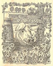 I LOVE YOU COUNTRY PIG Wood Mounted Rubber Stamp IMPRESSION OBSESSION H1947 New