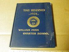 vintage rare 1904 William Penn Charter high School Yearbook Philadelphia PA