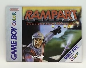 Rampart (Instruction Booklet/Manual Only) Game Boy Color Nintendo Original Gameb