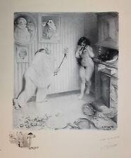 Adolphe Willette curiosa Les Sept Péchés Capitaux 1906 La Colère Lithographie