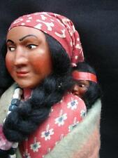 Vintage Native American Skookum ( Bully Good ) Indian Doll with Papoose