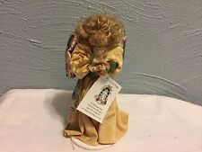 Marycana Clothespin Doll Figurine Wooden Dowel on Stand
