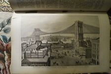 1880 neue Welt 9 Maler J. Lang Jakob Balde R. Epp New York Booklyn Brücke Hudson