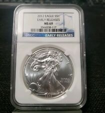 2012 Silver American Eagle Dollar NGC MS69 Early Release S$1 XH117