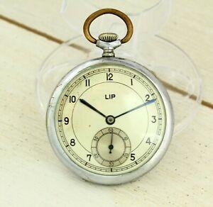 1940's Very Rare LIP (ZIM) USSR (Soviet) open face mechanical pocket watch