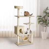 "60"" Cat Tree Multi-Scratcher Pet House Kitty Activity Center Beige"