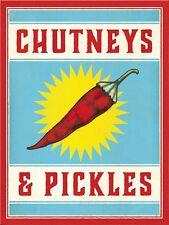 Chutneys and Pickles Sign/Plaque Metal Door Sign Home Kitchen Food Cooking