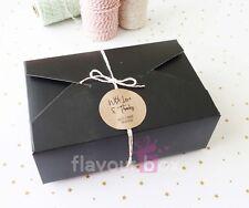 10x Black Large Gift Boxes Cookies Box Wedding Cake Favour Baby Shower Macaron