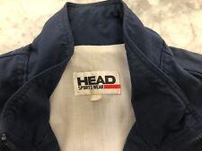 Vintage HEAD Sports Wear Mens Navy Blue Full Zip Jacket Windbreaker Size XL
