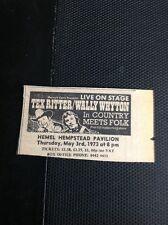 L2-9 Ephemera 1973 Advert Hemel Hempstead Tex Ritter Wally Whyton