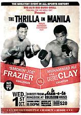 Muhammad Ali vs. Joe Frazier Thrilla in Manila Poster Art Print - A0 A1 A2 A3 A4