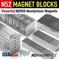 N52 35 Super Strong Rare Earth Neodymium Magnet Blocks Squares Thin Small Large