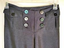 Mac & Jac Navy Button Dress Pants Women Size 4