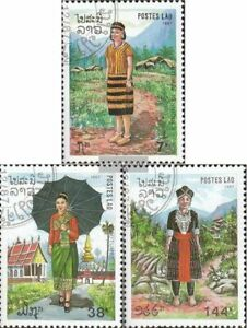Laos 1057-1059 (complete issue) fine used / cancelled 1987 Costumes