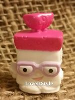 NEW Shopkins Season 1 White pink Bread Head 1-033 figure Bakery collection