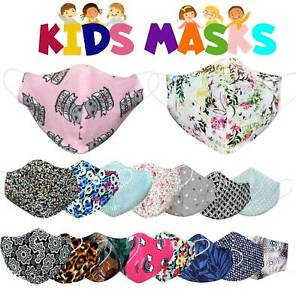 Kids Girls Boys Children Fashion Cotton Face Mask Washable Mouth Protection Lot