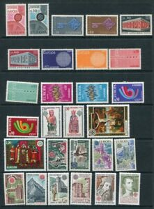 ANDORRA FRENCH 1967-80 EUROPA CEPT MNH Lot 28 Stamps