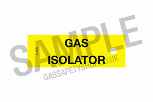 """Gas Safe """"Gas Isolation"""" TAGS"""