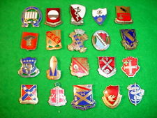 WW2 and Korean War US Army, Misc. Units, Pin Back Insignia (DUI) Grouping of 20