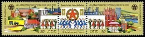 EBS East Germany DDR 1988 - Workers' Festival - Michel 3168-3169ZD MNH**