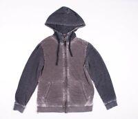 Daniel Buchler Gray Washed Cotton Blend Hoodie Sweater Size M Medium