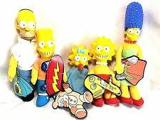 Burger King Vintage 1990 20th Century Fox The Simpsons Family Lot Stuffed Toy
