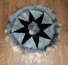 Art floor decor / Fur rug / natural fur / Fox / Arctic fox / Sheepskin