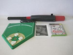 AWESOME QMOTIONS BASEBALL FULL MOTION CONTROLLER W/ 2K6 GAME SUPER RARE XBOX BAT