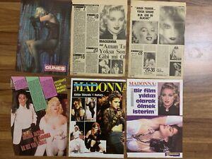 MADONNA 1990's Vintage TURKISH Newpaper Magazine Cover Photos Clippings RARE HTF