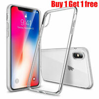 2X For New iPhone X Case Transparent Crystal Clear Case Gel TPU Soft Cover Skin