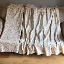 """St Michael/M & S  Vintage Edwardian Lady Curtains 62""""W X 53"""" Drop - Cottage Core"""
