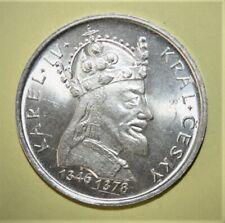 Czechoslovakia 100 Korun 1978 Brilliant Uncirculated Silver Coin King Charles IV