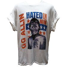 GG ALLIN T SHIRT Antiseen Discharge Hardcore Punk Rock Metal Graphic Band Tee
