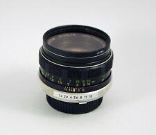 Minolta Rokkor-PF 55mm F1.7 Lens with Minolta MD/SRT Mount