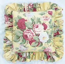 Vintage Ralph Lauren Kathleen Ruffled Throw Pillow With Down Feather Insert