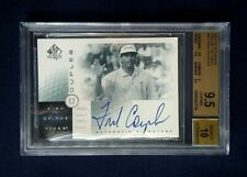 2001 SP Authentic Fred Couples Sign of the Times Auto #FC BGS 9.5 GEM MT 10 AUTO