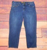 """Kut from the Kloth Women's Pocket Flap Capri Jean Shorts Size 6P 29"""" W X 22.5"""" L"""