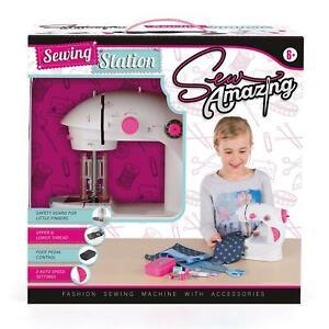 Sew Amazin Station Textile Sewing Machine Set for Kids