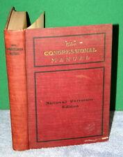 Vintage Book - The Congressional Manual - International Survey Company 1901