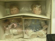 Danbury Mint Katie & Kenny Twins Porcelain Dolls Jennifer Schmidt