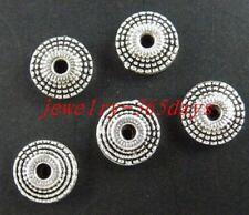 30pcs Tibetan Silver Flat Donut Spacer Beads 8x3mm zn570