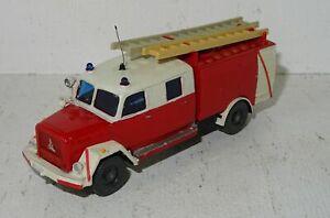 A611 Wiking Magirus Feuerwehr Leiterwagen Eigenbau von Modellbauer 1:87