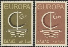 Greece 1966 Europa/Ship/Boat/Politics/Transport/Animation 2v set (ex1011)