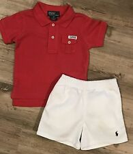 NWT Boys Ralph Lauren polo Shirt and Shorts outfit Age 9 months