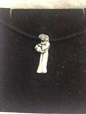 Aquarius PP-SS11 English Pewter Emblem on a Black Cord Necklace Handmade